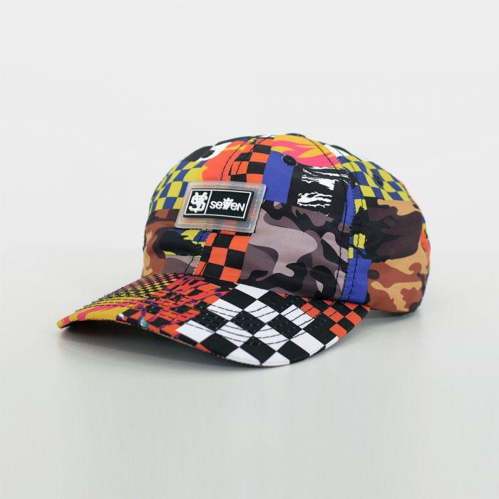 BONE DAD CAP PATCHWORK RACER
