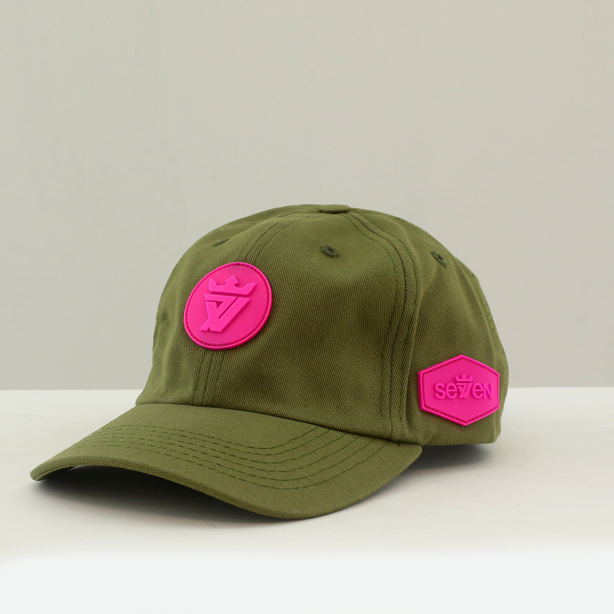 BONÉ DAD CAP GREEN PINK