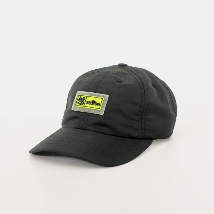 BONÉ DAD CAP SEVEN BRAND NYLON PRETO
