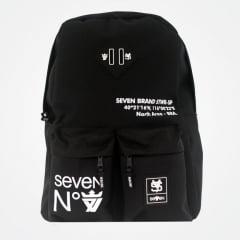 MOCHILA SEVEN BRAND SV7 PRETA