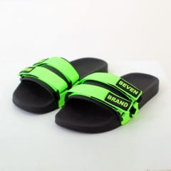 CHINELO SLIDE DOUBLE STRIPS NEON GREEN